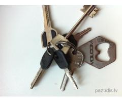 Atrasts atslēgu saišķis ar Volcom piekariņu