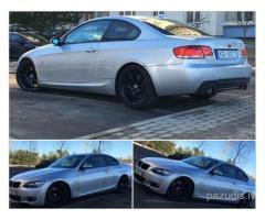 Nozagts BMW 335d sudraba krāsā