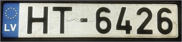 Pazudis auto nr.  HT-6426