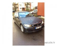 Nozagts pelēks BMW 320 e91