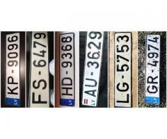 Atrasti auto numuri